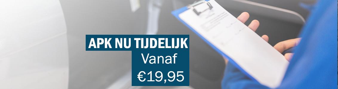 Nu tijdelijk APK vanaf €19.95